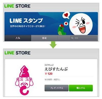 LINE STOREで「えびすたんぷ」と検索すると購入画面へhttps://store.line.me/stickershop/product/1144753/ja